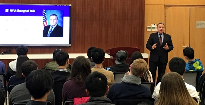 CECC Chairman Delivers Speech on Human Rights at NYU-Shanghai Campus feature image